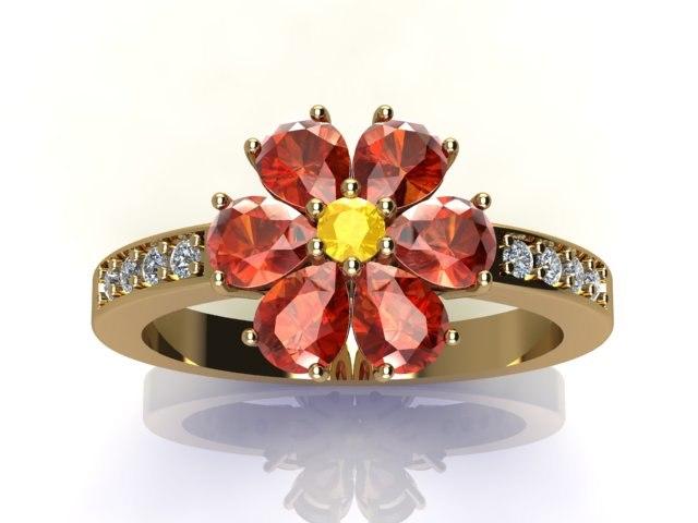 flower ring 3D model