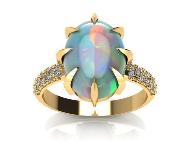 3D star ring diamond model