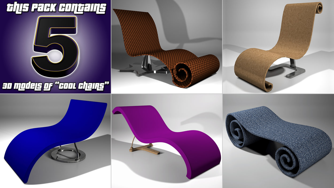 cool chairs 3D model