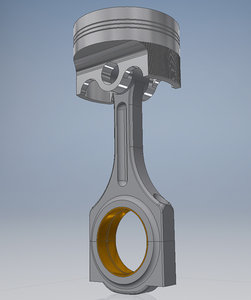 3D car engine piston
