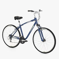 Photorealistic Giant Cypress DX Deep Blue Bi-cycle 3d Model