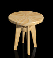 3D model stool