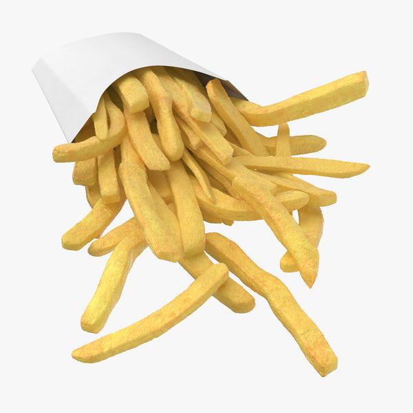 fries box 3D model