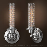 RH EDISON PERFORATED METAL SCONCE