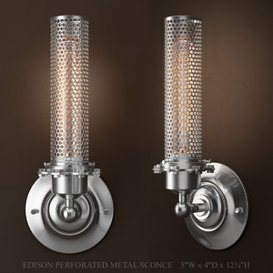 3D edison perforated metal sconce model