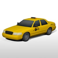 new york taxi cab 3D model