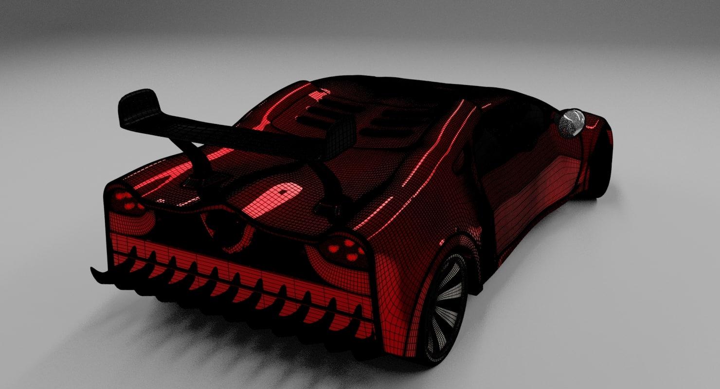modelled car model