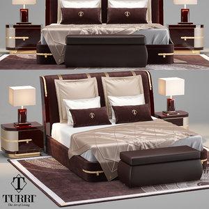 turri diamond beds 3D model
