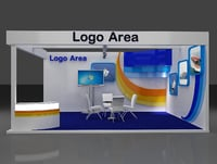 3D booth exhibition stand model