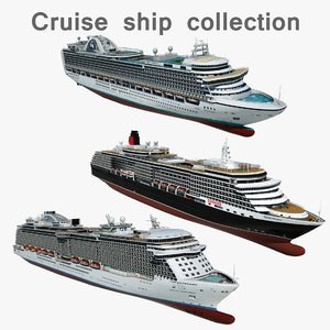 cruise ships 3D
