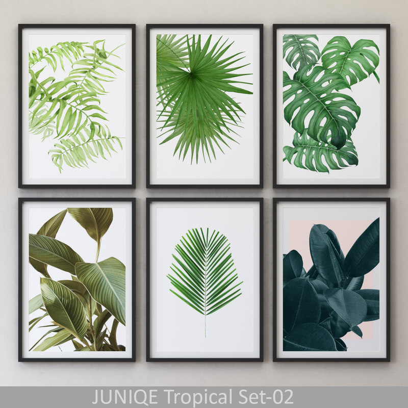 juniqe tropical set-02 framed 3D model