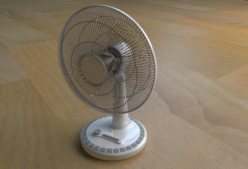 3D electric fan model