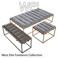 west elm fontanne 3D model