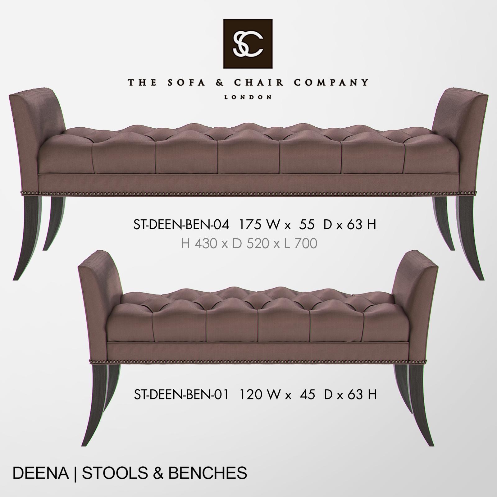 Excellent The Sofa And Chair Company Deena Bench Creativecarmelina Interior Chair Design Creativecarmelinacom