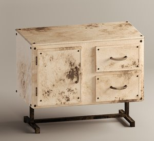 3D model old chest drawers