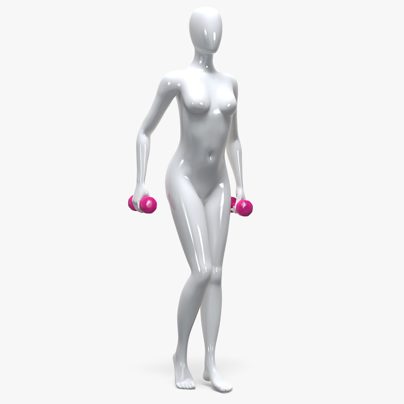 3D female mannequin