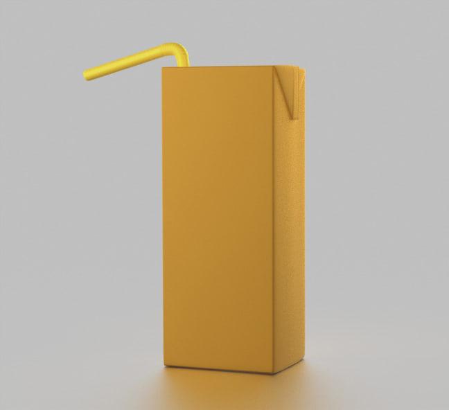 tetrapark juice pack 3D model