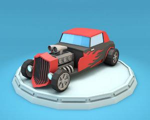 hot rod racing car model