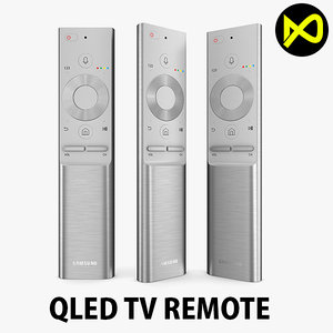 samsung qled tv remote 3D model