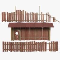 fence gate 3D model