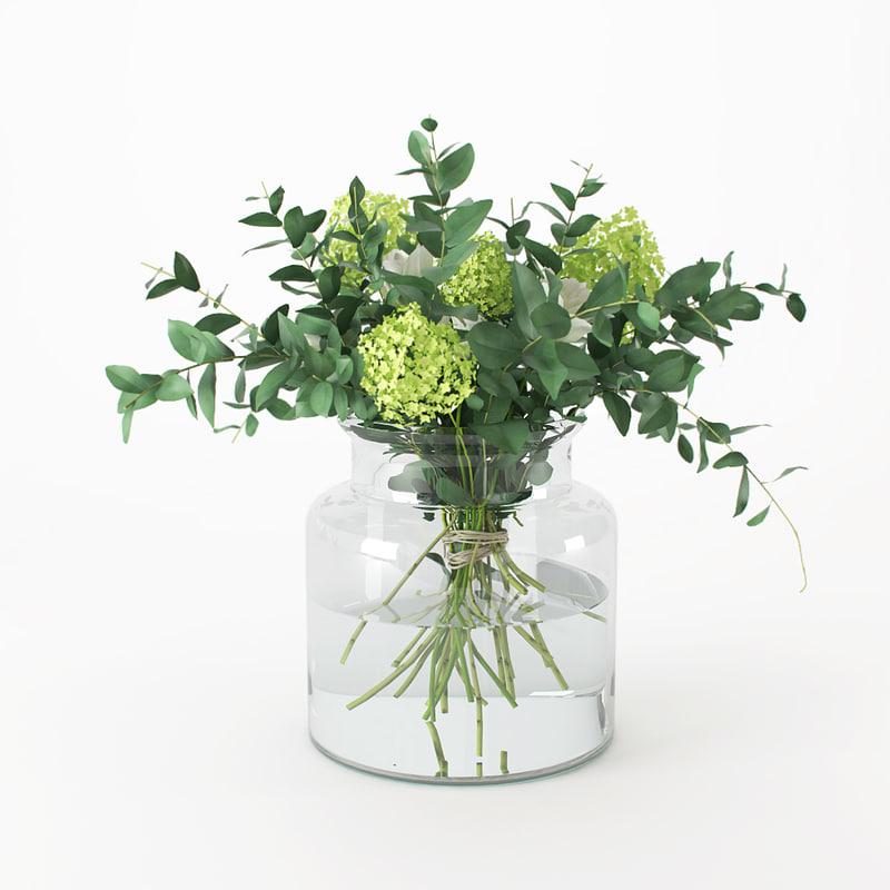 3D bouquet flowers bank
