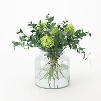 3D bouquet flowers bank