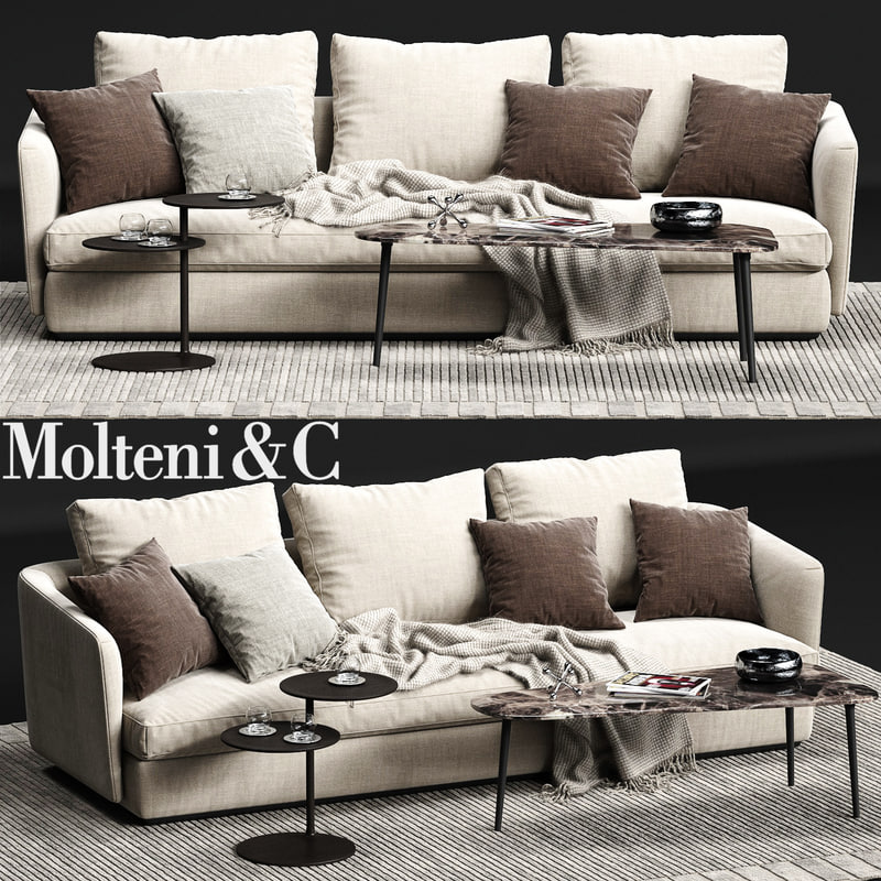 3d molteni c sloane sofa model turbosquid 1167761. Black Bedroom Furniture Sets. Home Design Ideas