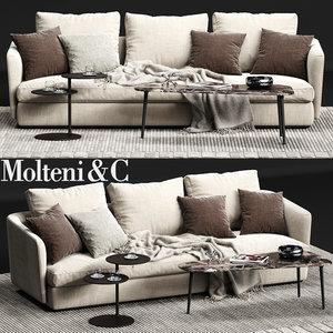 3D molteni c sloane sofa model