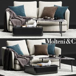 3D molteni c sloane sofa
