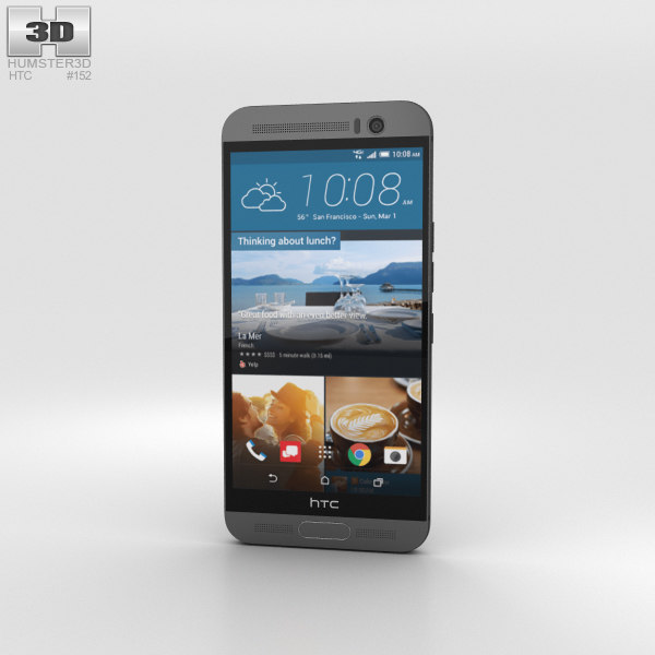 3D htc m9 gunmetal model