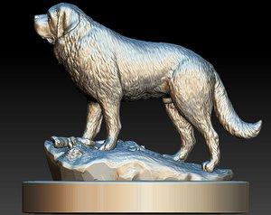 3D saint bernard dog model