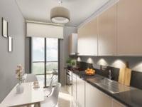 3D photorealistic modern kitchen