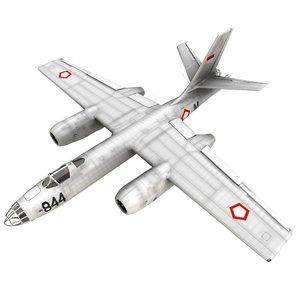 ilyushin il-28 beagle bomber 3D model