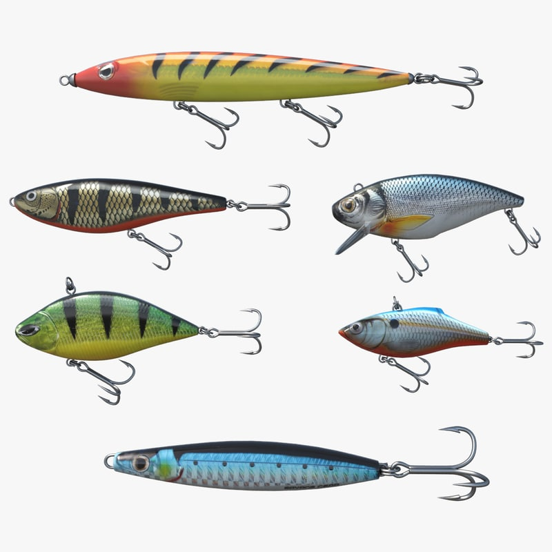 fishing lures 3D