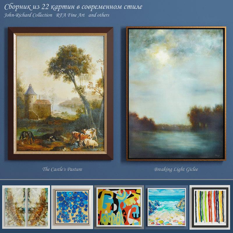 paintings art pictures 3D model