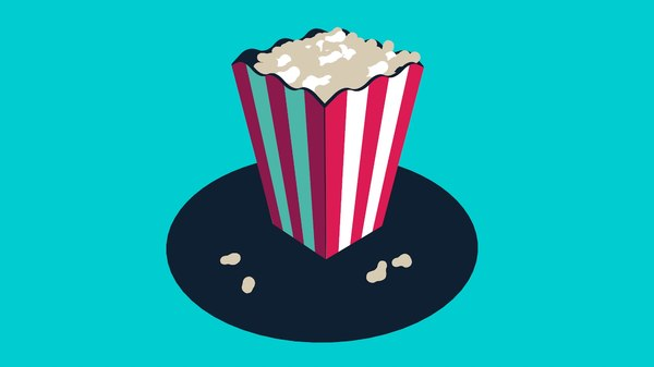 toon popcorn 3D model