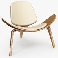 shell chair wegner ch07 3D model