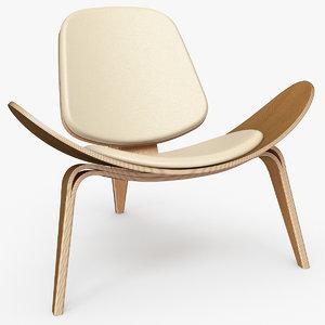 shell chair wegner ch07 3D model