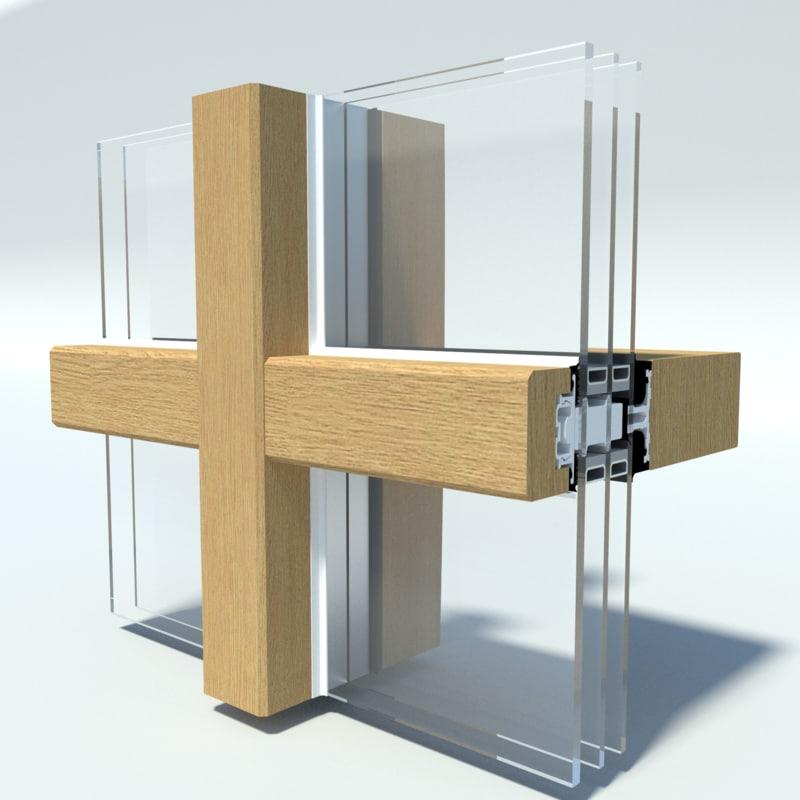 3D timber curtain wall