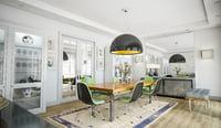 interior scene dining room model