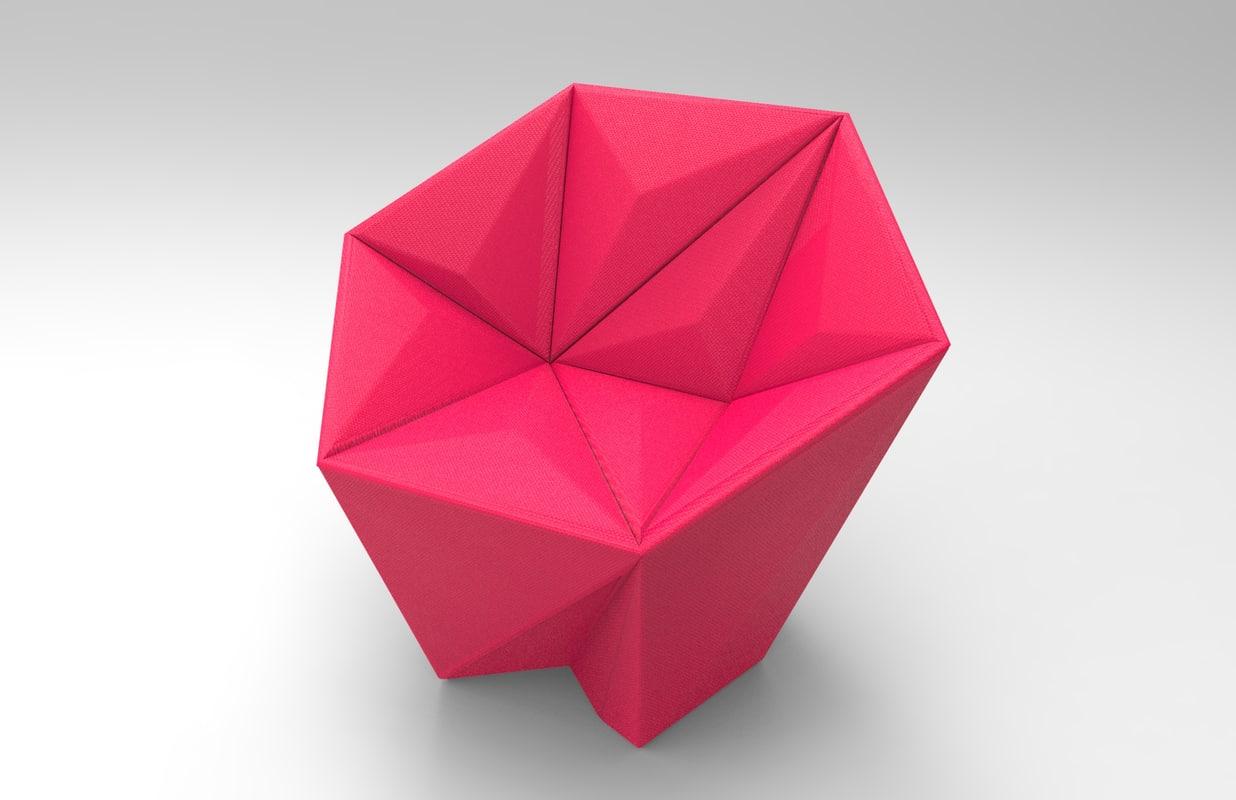 gemma armchair chair 3D model