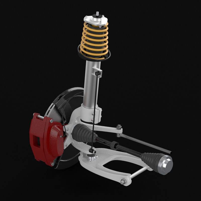3D engine automotive model