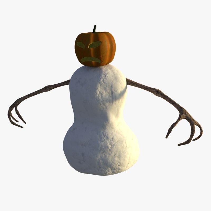 3D evil snowman