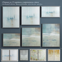 The collection of contemporary paintings (set-9)