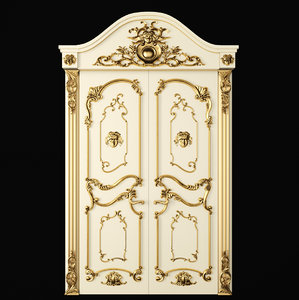 3D classic door luxury