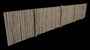 3D wooden fence