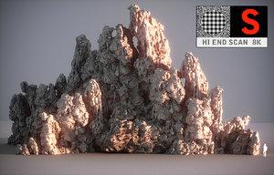 moon mountains hd 3D model