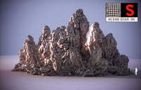 3D model moon mountains hd