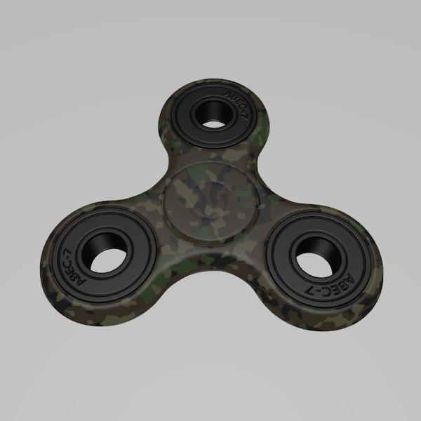 3D fidget spinner spin model