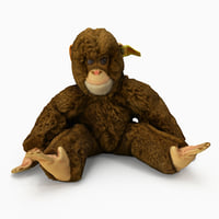 monkey stuffed toy 3D